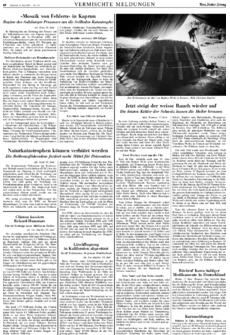 Zeitungsartikel der NZZ